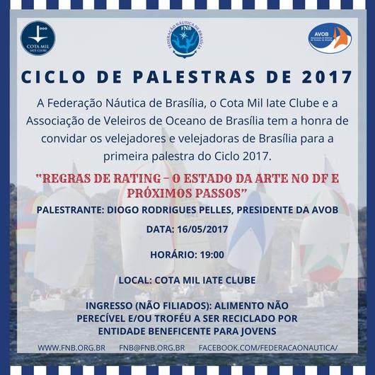 CICLO DE PALESTRAS DE 2017